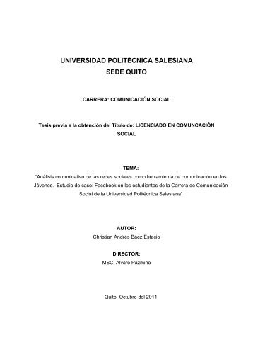 TESIS FINAL ANDRES BAEZ.pdf - Repositorio Digital - UPS ...