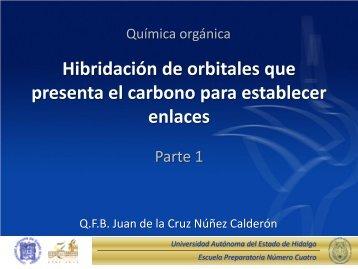 Hibridación de Orbitales que presenta el Carbono para Establecer ...