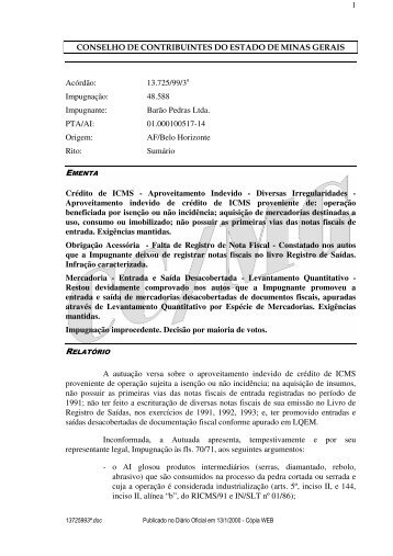 Microsoft Word - 13725993\252.doc - Secretaria de Estado de ...