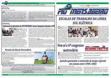 Fio Mensageiro - Sindicato dos Metroviários de Pernambuco