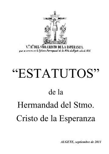 Estatutos - Hermandad del Santísimo Cristo de la Esperanza | Algete