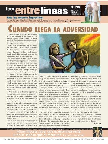 CUANDO LLEGA LA ADVERSIDAD - Venezuela Entrelineas