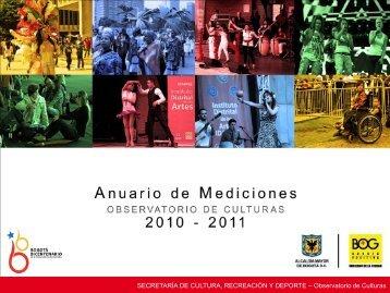 SECRETARÍA DE CULTURA, RECREACIÓN Y DEPORTE – Observatorio de Culturas