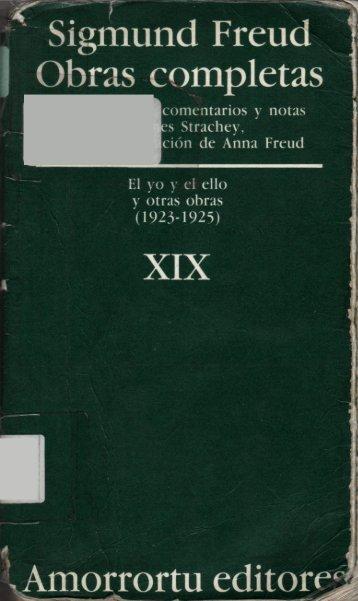Volumen XIX – El yo y el ello, y otras obras