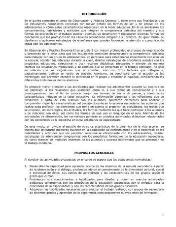 Observación y Práctica Docente II - Escuela Normal Superior