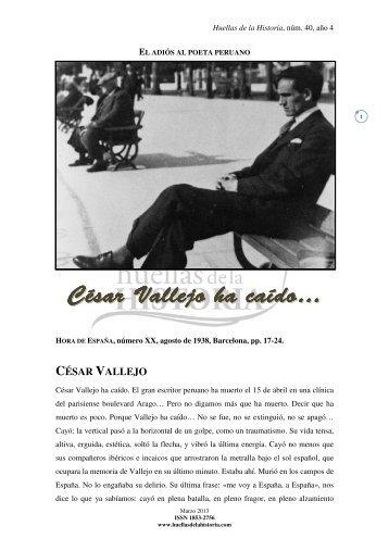 César V Vallejo ha caíd do… - Huellas de la Historia