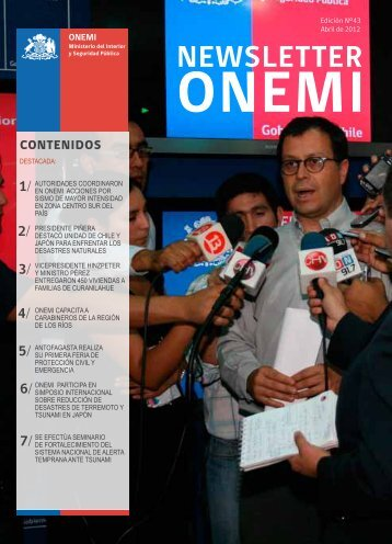 Newsletter 43º edición Abril - Onemi