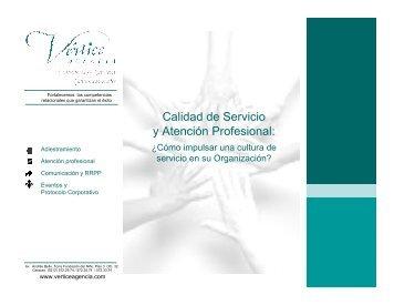 Calidad de Servicio y Atención Profesional: ¿Cómo ... - Venamcham