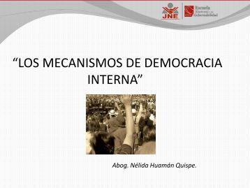 """""""LOS MECANISMOS DE DEMOCRACIA INTERNA"""" - ESEG"""