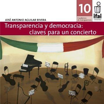 Transparencia y Democracia: claves para un concierto