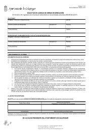 Solicitud de Licencia de obras de demolición - Ayuntamiento de ...