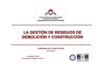 LA GESTIÓN DE RESIDUOS DE DEMOLICIÓN Y CONSTRUCCIÓN ...