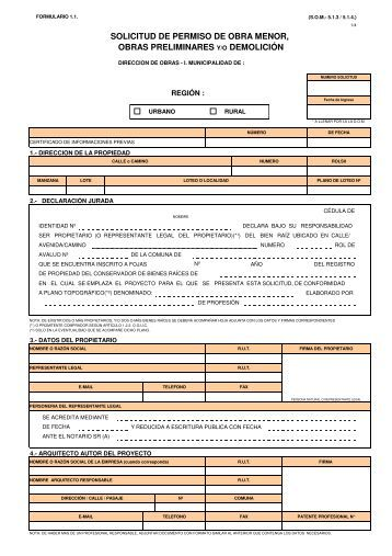 formulario dom valpo 2 3 On permiso de obra menor