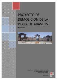 proyecto de demolición de la plaza de abastos - Ayuntamiento de ...