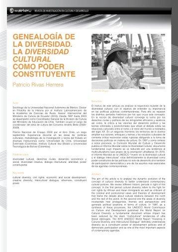 genealogía de la diversidad. la diversidad cultural como poder ...