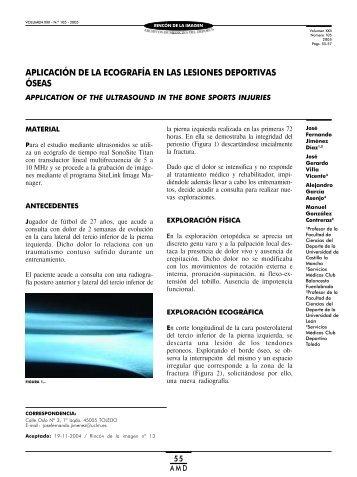aplicación de la ecografía en las lesiones deportivas óseas - Femede