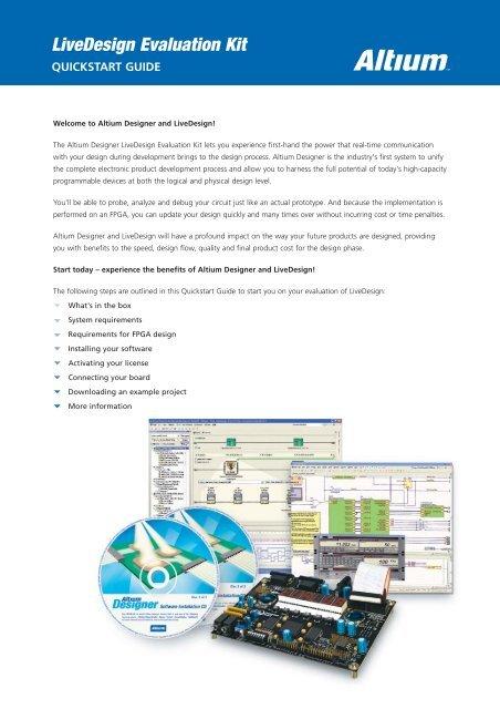 Livedesign Evaluation Kit Quickstart Guide - Altium