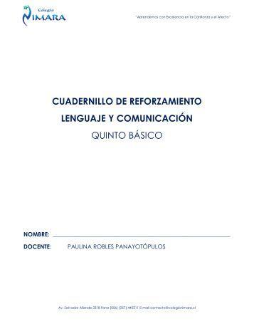 CUADERNILLO DE REFORZAMIENTO LENGUAJE Y ... - Codesin