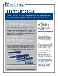 immunocal es un suplemento natural patentado cuyas ... - Immunotec