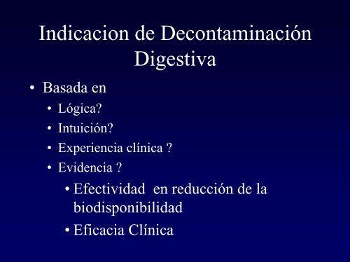 Nuevas Tendencias en Decontaminación Digestiva
