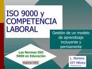 Las Normas ISO 9000 en Educación
