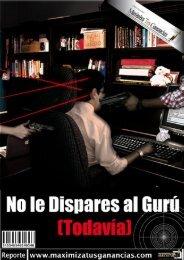 Descarga no dispares al Guru - Aprenda a crear negocios en internet