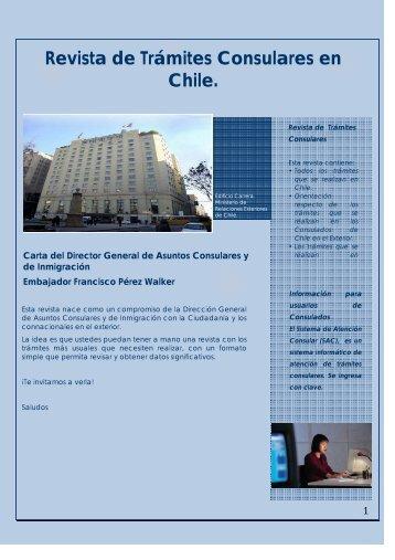 Revista de Trámites Consulares en Chile. - Ministerio de Relaciones ...
