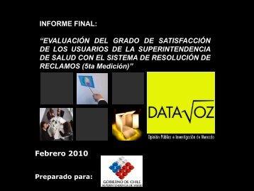 Reclamos resueltos año 2009 - Superintendencia de Salud