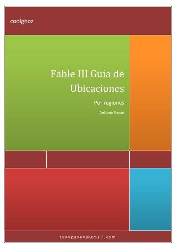Fable III Guía de Ubicaciones - Fable 3