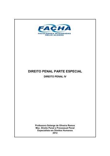 10. Direito Penal Parte Especial - Apostila - Facha