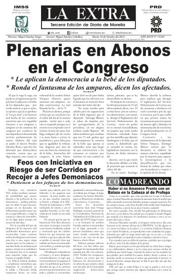 00 EXTRA.indd - La Extra / Diario de Morelia / Noticias Morelia ...
