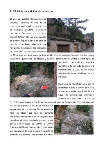 El CRAS, la demolición sin molestias - Kayati