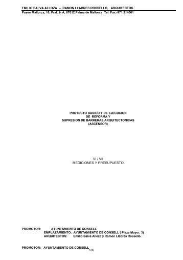 VI / VII MEDICIONES Y PRESUPUESTO