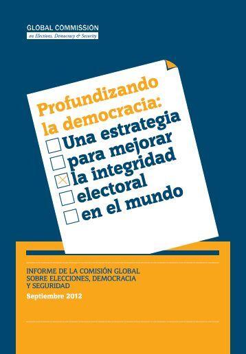 Profundizando la democracia: Una estrategia para mejorar la ...