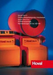 Hoval Uno-3 Öl/Gas-Niedertemperatur-Heizkessel. Hoval Uno-3 bi