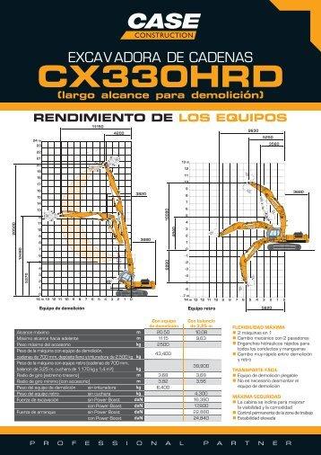 Case Demolición Case CX330HRD - Interempresas