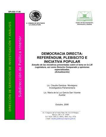 DEMOCRACIA DIRECTA - Cámara de Diputados
