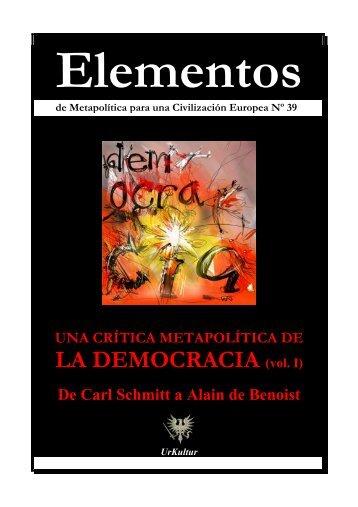 Elementos Nº 39 DEMOCRACIA I - El Manifiesto