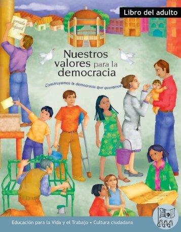 Nuestros valores para la democracia. Libro del adulto - Conevyt