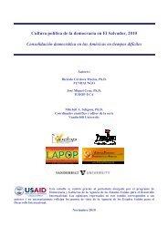 Cultura política de la democracia en El Salvador, 2010