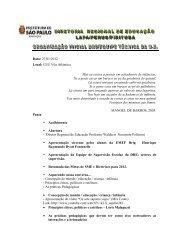 Pauta da Reunião de Organização Inicial - Educação Infantil