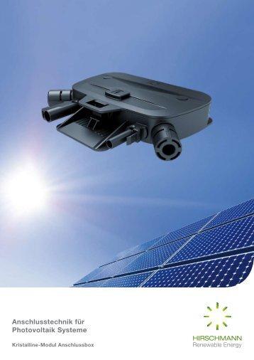 Anschlusstechnik für Photovoltaik Systeme - Hirschmann ...