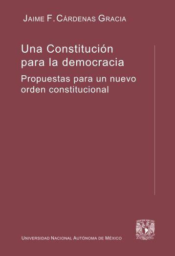 Una Constitución para la democracia - Biblioteca Jurídica Virtual ...