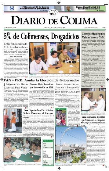 PAN y PRD: Anular la Elección de Gobernador - Universidad de ...