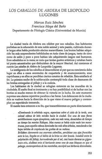 los caballos de abdera de leopoldo lugones - InterClassica ...