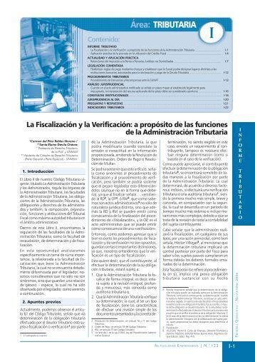 Área: TRIBUTARIA - Revista Actualidad Empresarial