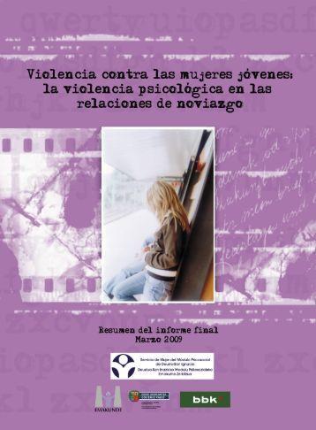 Resumen violencia contra las mujeres jóvenes en el noviazgo
