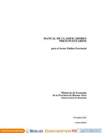 manual de clasificadores presupuestarios - Ministerio de Economía ...