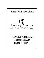 GACETA DE LA PROPIEDAD INDUSTRIAL - Superintendencia de ...