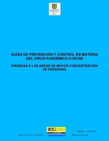guías de prevención y control en materia del virus pandémico h1n1/09